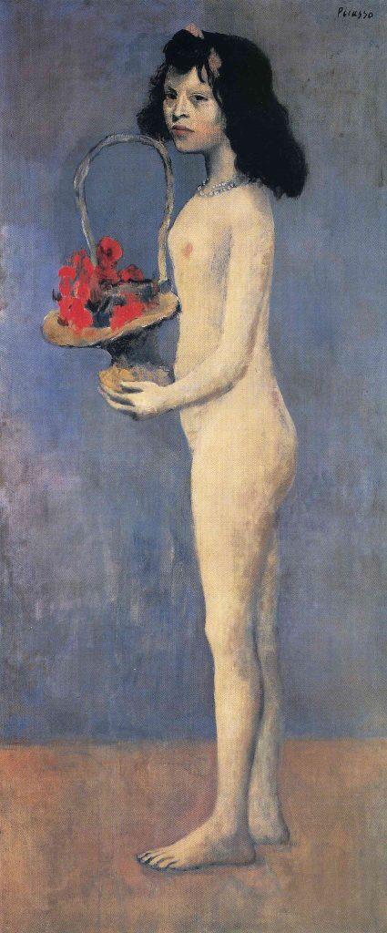 Fillette à la corbeille fleurie, Pablo Picasso