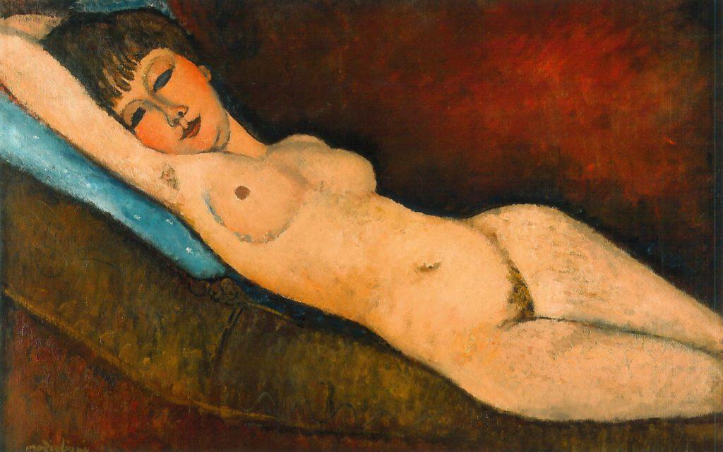 Nu Couché au coussin Bleu, Amedeo Modigliani