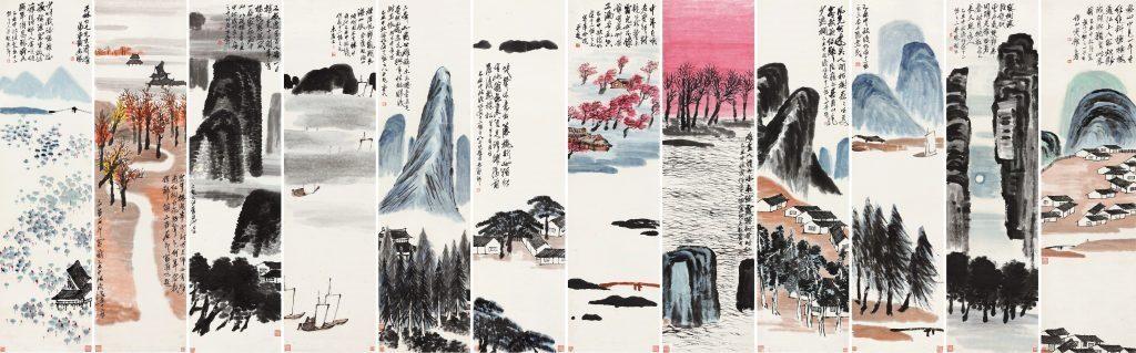 Twelve Landscape Screens, Qi Baishi