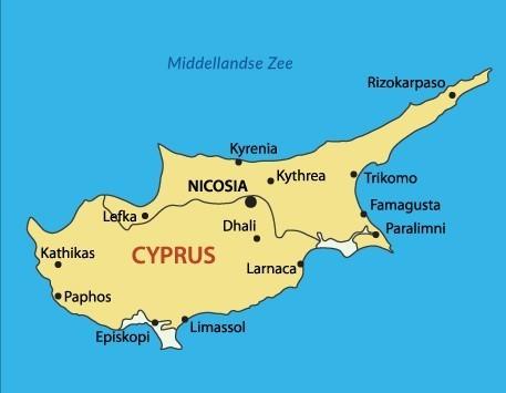 cyprus kaart