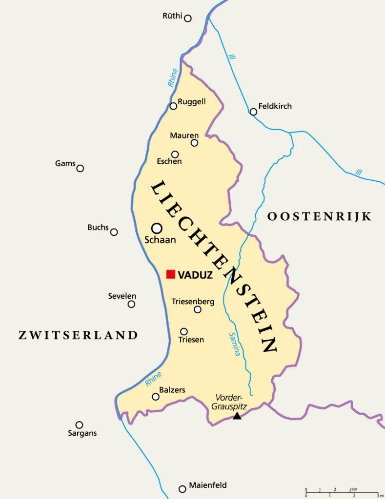 Liechtenstein kaart