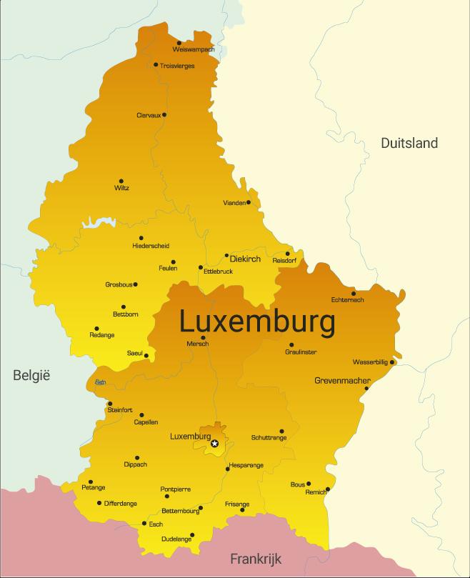 luxemburg kaart