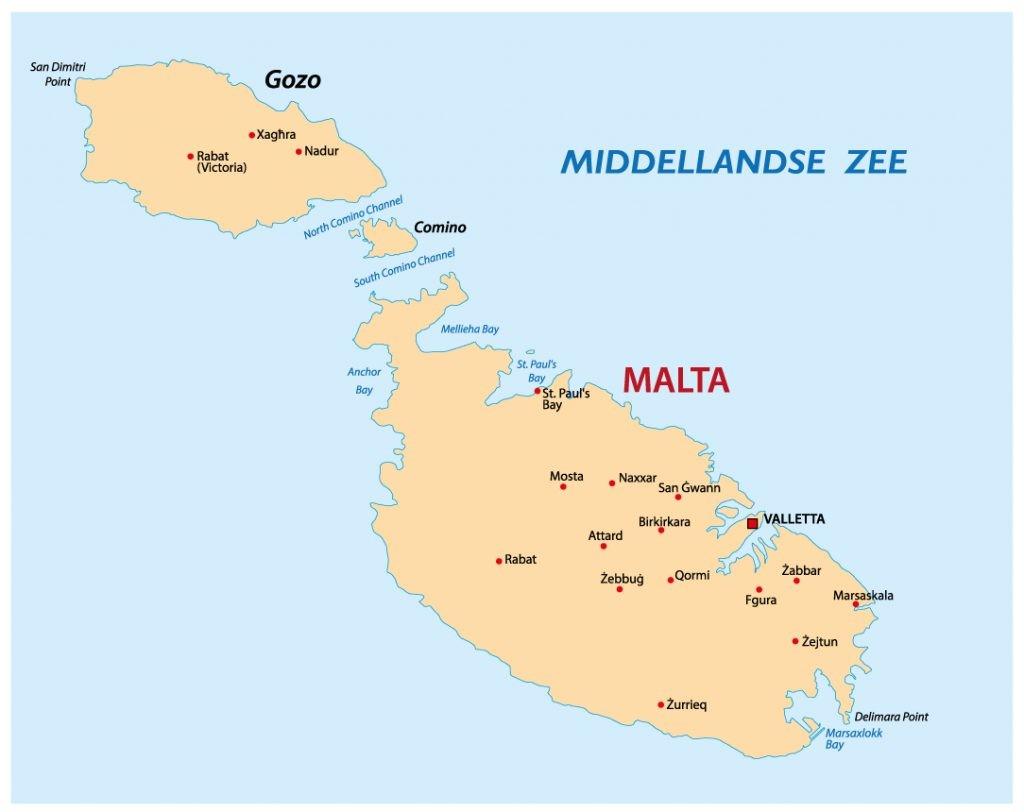 Malta kaart
