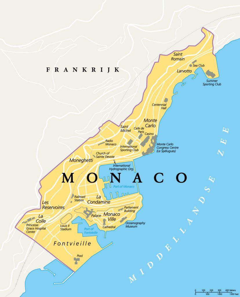 monaco kaart