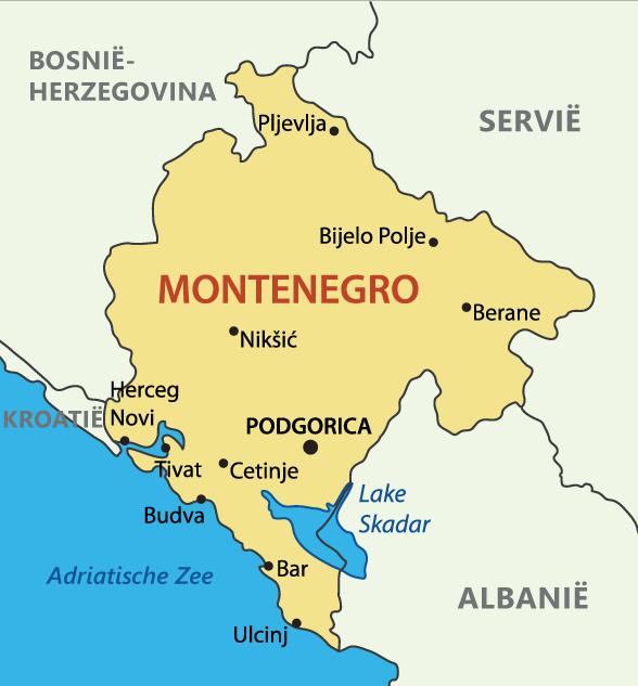 Montenegro kaart