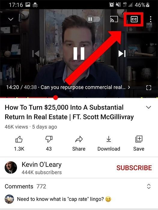 youtube ondertiteling uitzetten android