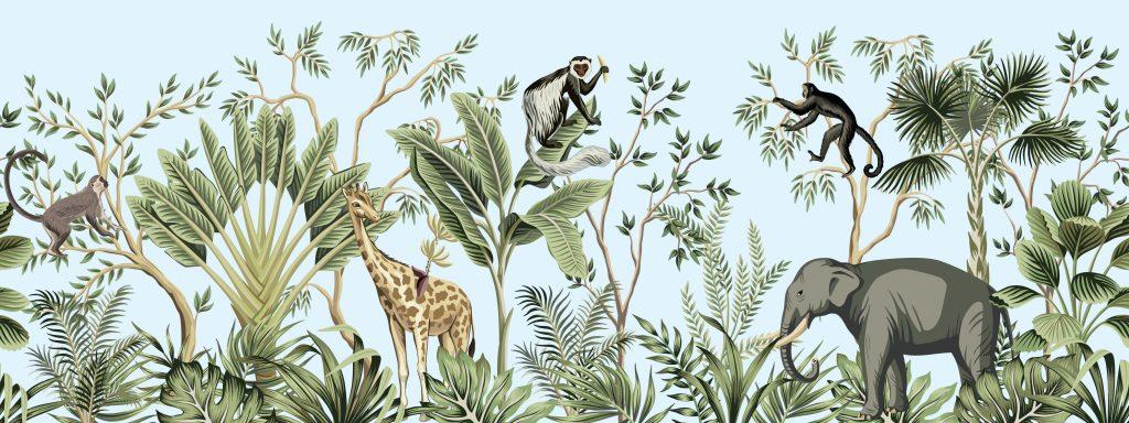 dieren in een jungle